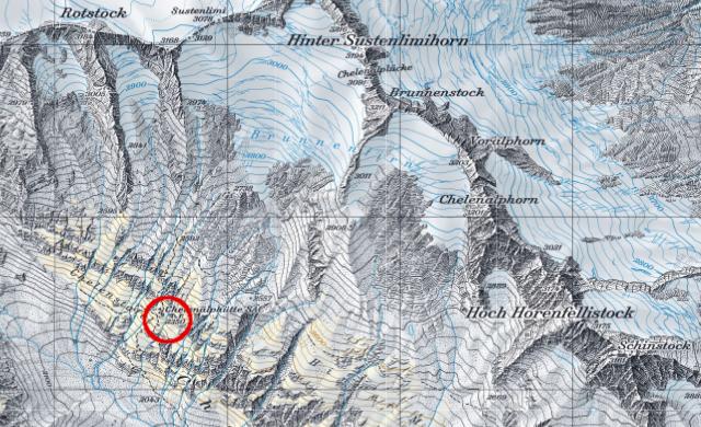 Karte Chelenalphütte