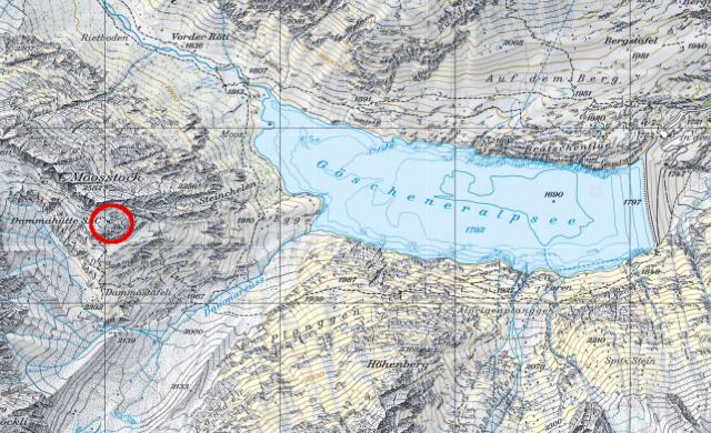Karte Dammahütte