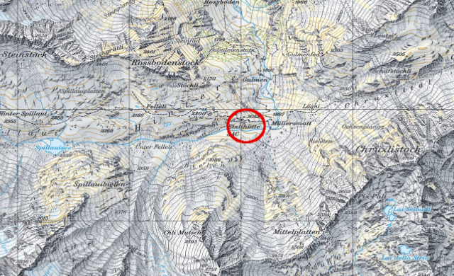 Karte Etzlihütte