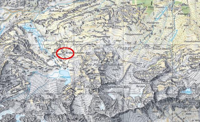 Karte Kröntenhütte