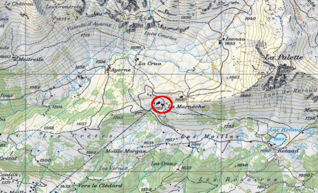 Karte Diableretshütte